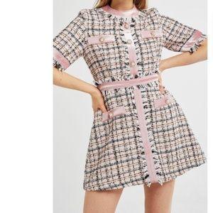 NWT Storets Avery multi tweed romper dress